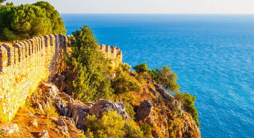 The 1000-year-old fort in Alanya. Photo: Shutterstock