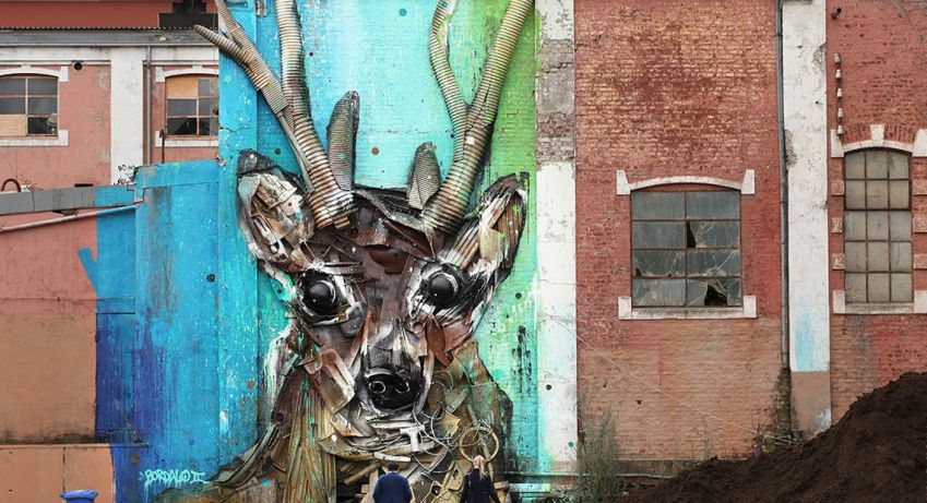 Spectacular piece in Vikedalsgata by Bordalo. Photo: Ian Cox