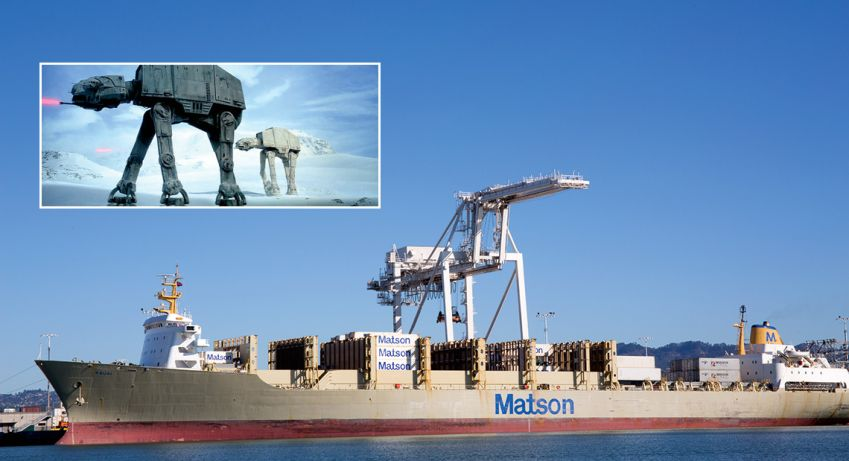 George Lucas ­busted one myth: the AT-AT Walkers were not designed after cranes at Port of Oakland (they just remind Star Wars fans of them).