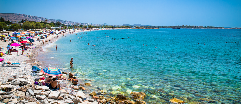The Glyfada Beach at the Riviera. Photo: Shutterstock.