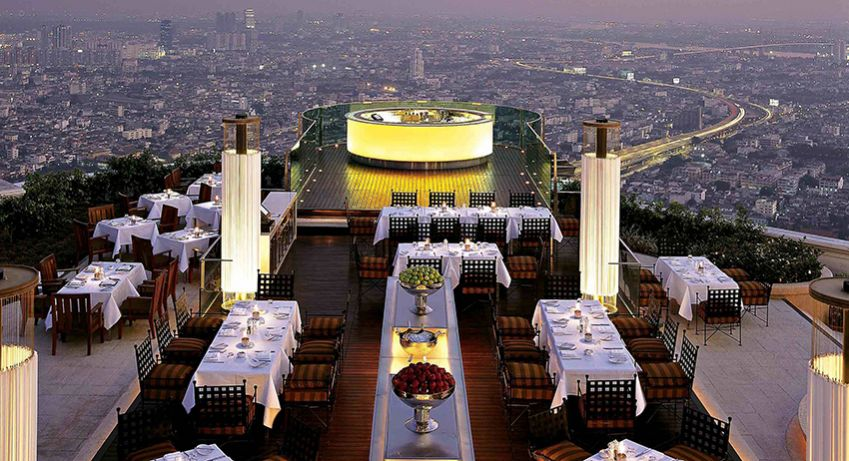 Sirocco in State Tower Building on 1055 Silom Road is a popular spot.
