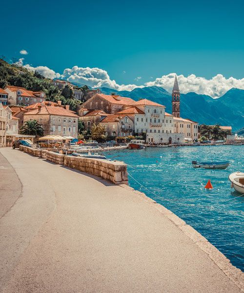 Along the Kotor Bay you'll find fantastic medieval villages. Photo: Shutterstock