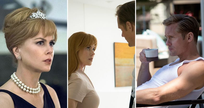 The abusive relationship, between Celeste, played by Nicole Kidman and Alexander Skarsgård's Perry Wright, is a central theme throughout Big Little Lies. Photo: HBO Nordic
