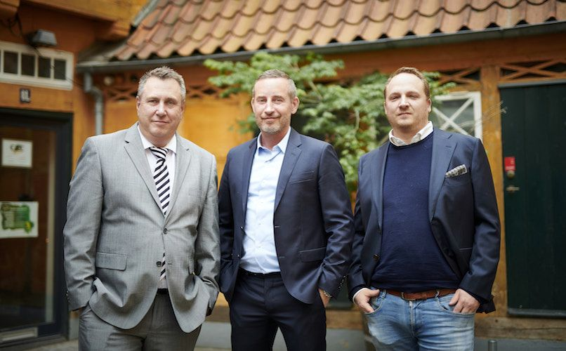 Three of the men behind Boltens Food Court. From left: Lars Moesgaard, Jakob Nygaard and Nik Kongsø.