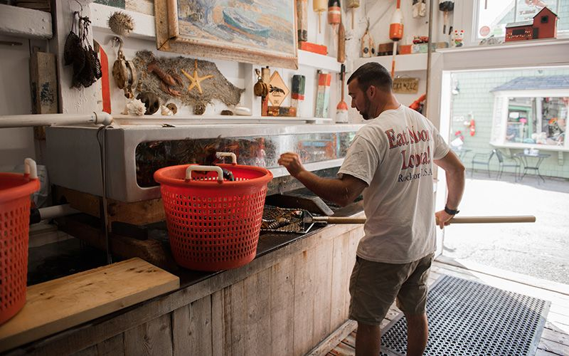 John Porter at the fish shack Roy Moore Lobster in Rockport. Photo: Nicklas Gustafsson