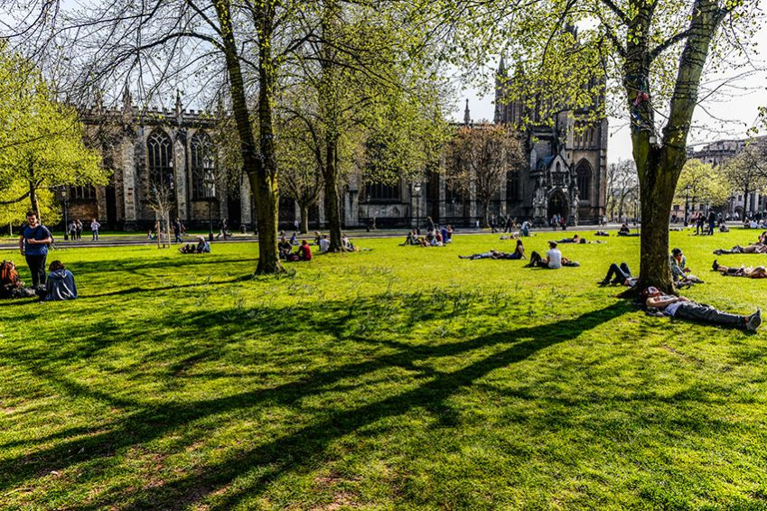 Bristol has many leafy and green spaces, College Green by the cathedral being one of them. Photo: Mauro Rongione.