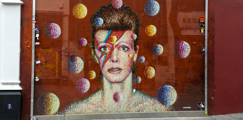 David Bowie på Tunstal Road.