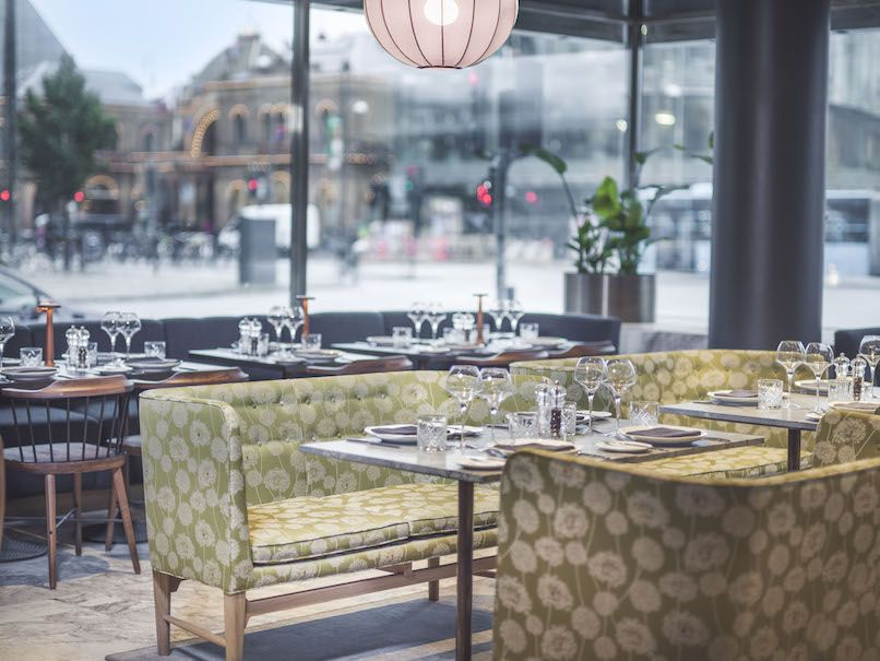 The new restaurant Café Royal shows new aspects of Jacobsens design, and also offers a great view. Photo: Lisa Löwenborg