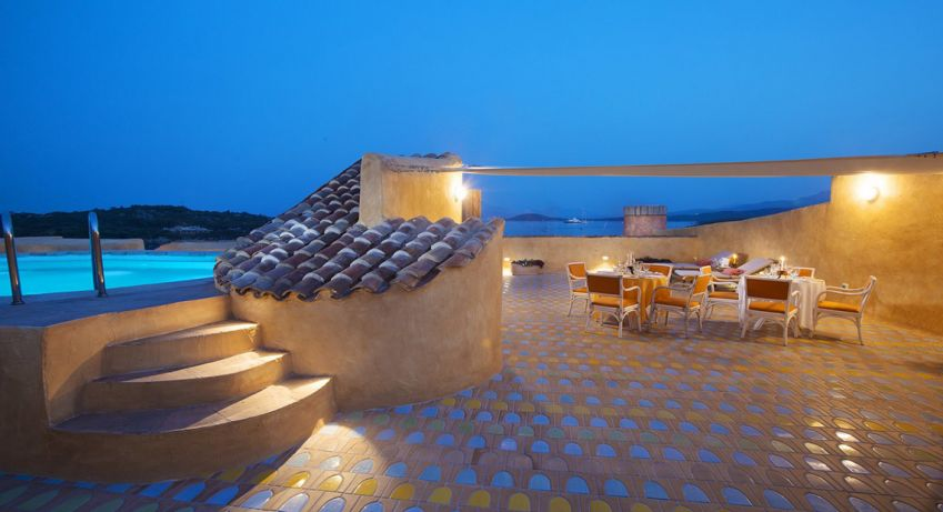 The rooftop at Hotel Cala di Volpe in Italy.