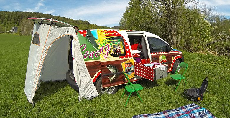 The camper vans are well equipped with both Roof Top Tents and WiFi. Photo: Nordic Campers