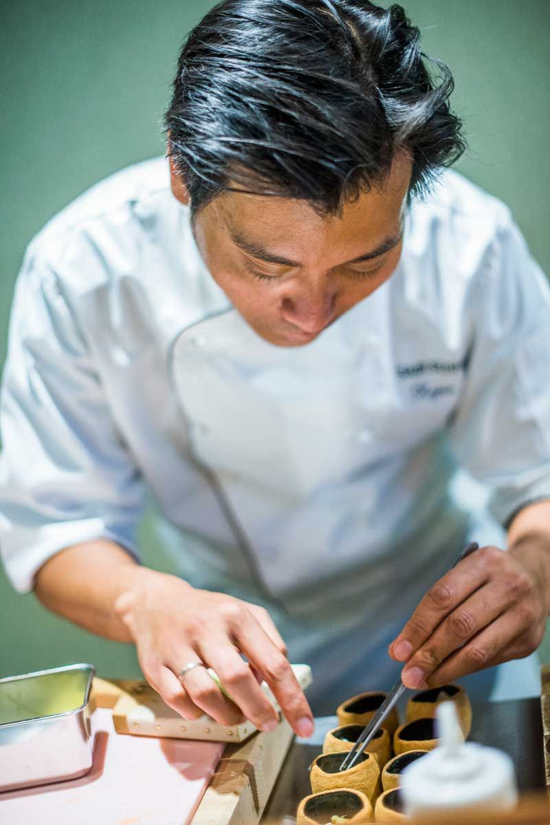 Chef Roger Asakil Joya at Sabi Omakase in Stavanger. Photo: Fredrik Ringe