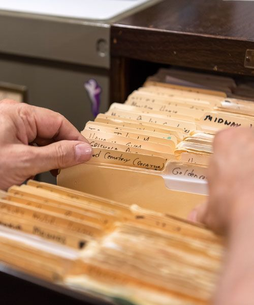 They have file cabinets full of case histories. Photo: Scott Thompson