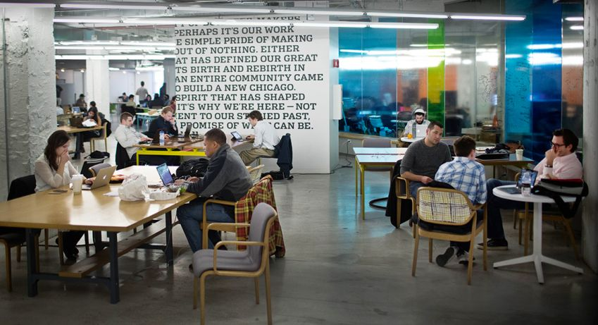 1871 is a melting pot for startups in downtown Chicago. Photo: Pontus Höök