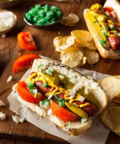 One of the city's most famous food is the Chicago-style hotdog. Photo: Shutterstock