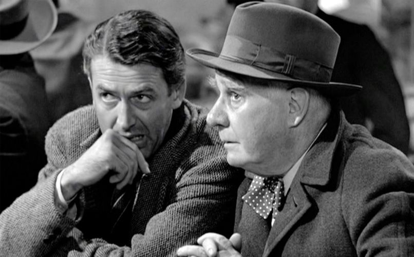 James Stewart (left) in It's a Wonderful Life Photo: IMDB