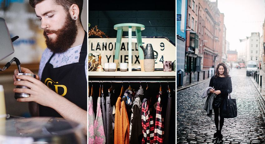 Scout vintage (middle photo) treasures in the heart of Temple Bar. Photo: Al Higgins