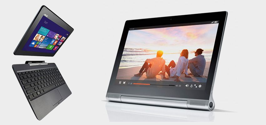 Left: ASUS Transformer. Right: Lenovo Yoga Pro