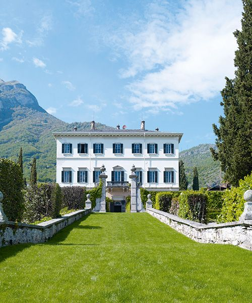 The couple's villa by Lake Como was originally built as a summer residence for Italian nobility in the 1600s.Photo: Gaelle Le Boulicaut