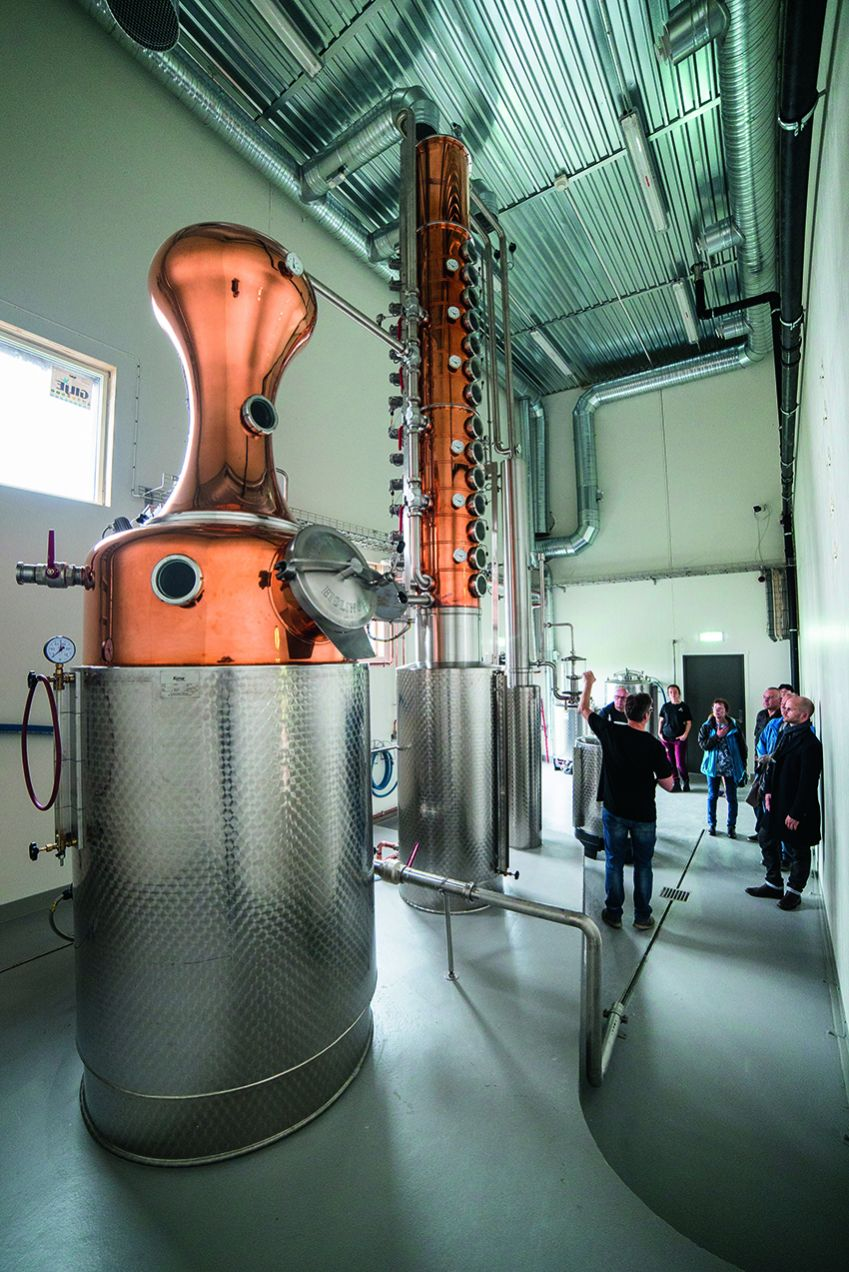 Visitors come from far and wide to visit the world's northernmost distillery.