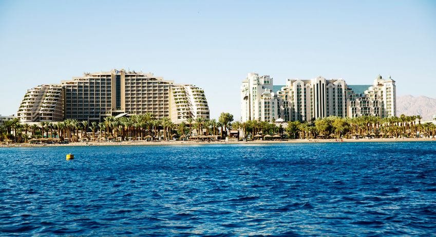 The beach boulevard. Eilat has a 10km-long shoreline. Photo: Roger Seger