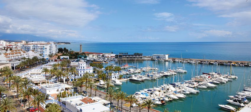 The coastal town of Estepona.