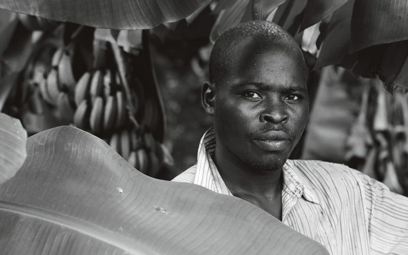 Kevas George, a banana orchard worker in Malawi. Froosh hopes to support the farmers they work with through the message of trade not aid. Photo: Nicky de Silva