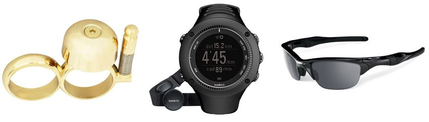 Run bell, Suunto Ambit2 R and Oakley Half Jacket 2.0.