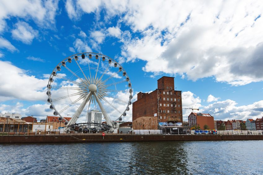 From the Ferris Wheel you get the best view of Gdansk. Photo: Shutterstock