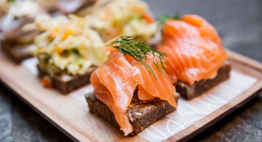 The Swedish gravlax is one of many tasty dishes at Björk. Photo: Magnus Glans
