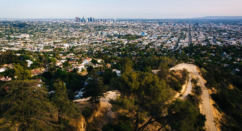 Spectacular views across the glittering expanse of the city at Griffith Park Observatory. Photo: Shutterstock
