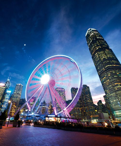 One of Hong Kong's newest tourist attractions - The Hong Kong Observation Wheel. Photo: Shutterstock