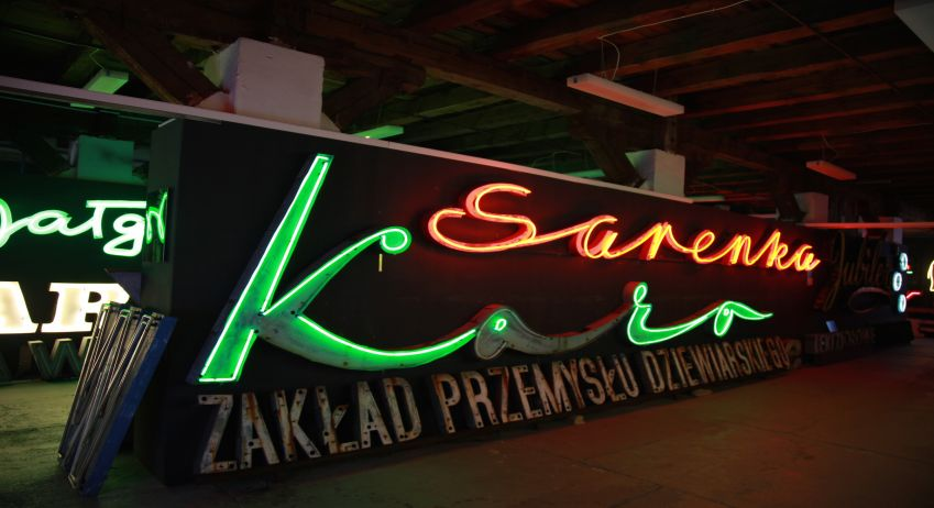 Museum of neon at  Soho Factory. Photo: Lise Hannibal