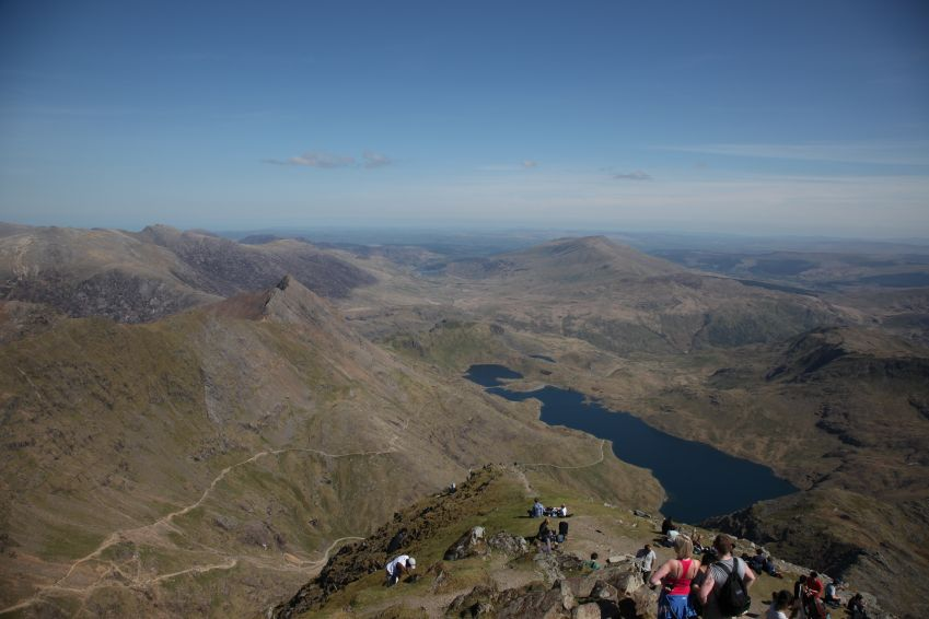 You can see as far as to Ireland from the top of Mt. Snowdon. Photo: Andrew Blackwell