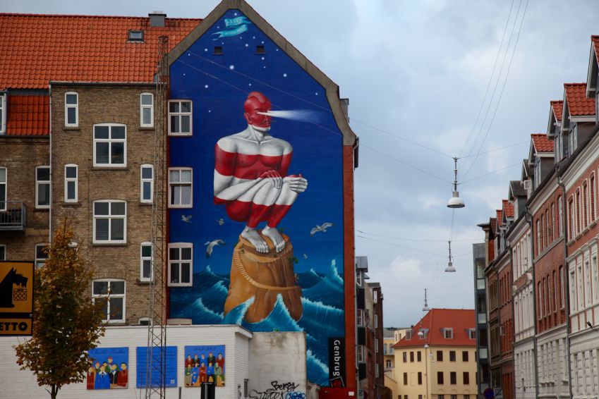 Mural by AEC, one part of the ukranian duo Interezni kaski. Photo: Lise Hannibal
