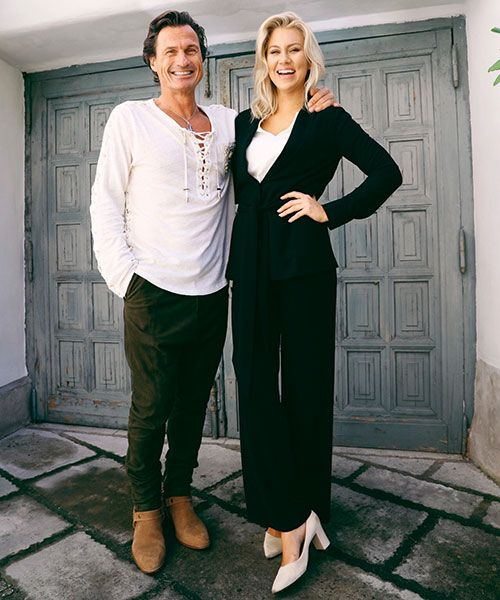 Isabella says Petter Stordalen is always full of good advice whenever they meet up.  Isabella's shoe brand Flattered. Photo: isabellalowengrip.se