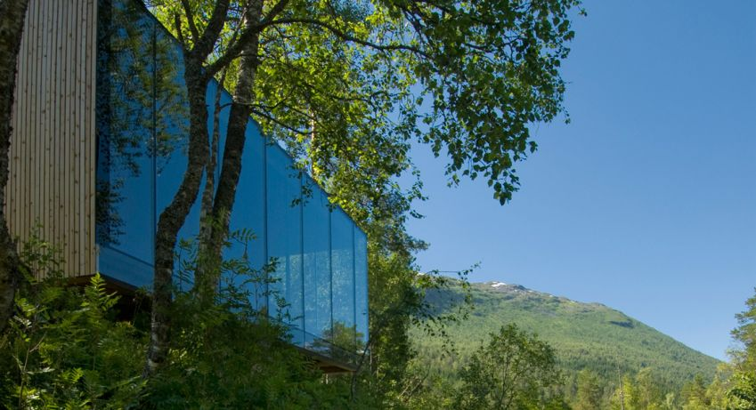The Juvet Landscape Hotel may not be in a town but the hotel itself is well worth a visit, with its spectacular architecture and natural location.