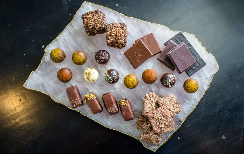 Unusual combinations of unlikely ingredients – Vosges Haut-Chocolat offers a new kind of chocolate experience. Photo: Scott Thompson