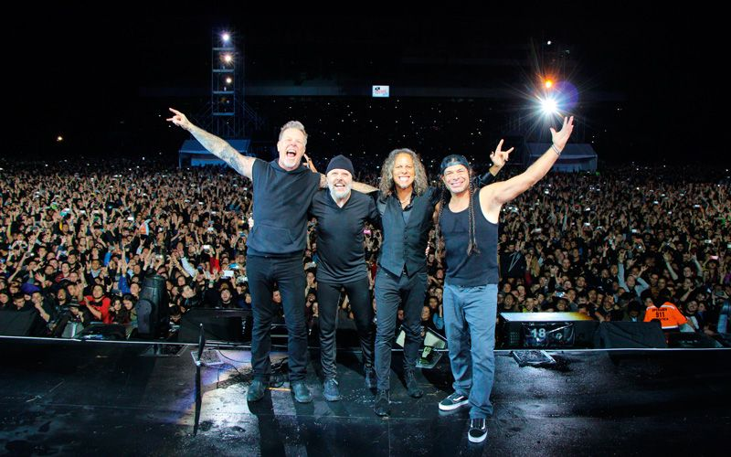 Concert at the Hipodromo de Los Andes in Bogotá, Colombia.Photo: Je Yeager/Metallica/Getty Images