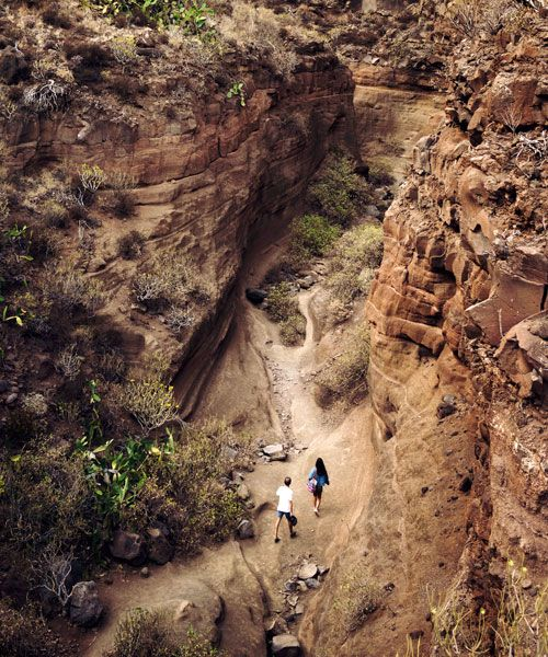 Exploring Barranco de las Vacas. Photo: Clèment Morin