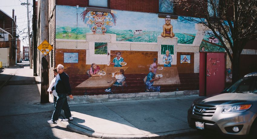 Murals in Pilsen, Chicago. Photo: Daniel  Ekbladh
