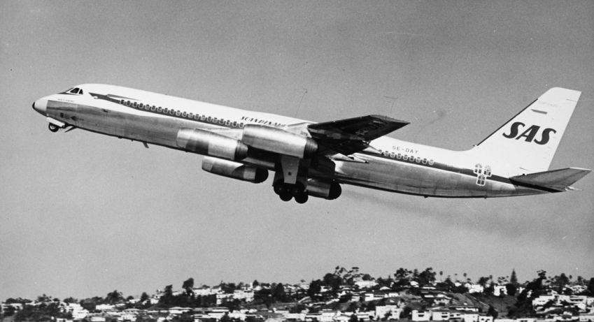 SAS also leased two Coronado CV-990 from Swissair between 1962-1966.