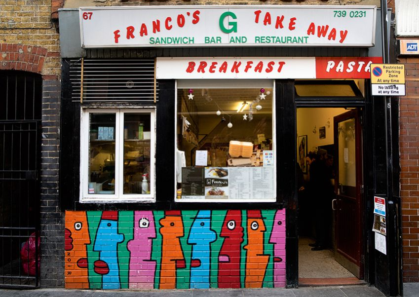 London's grittiest districts have been transformed by a splash of color here, a social comment there. Tour and see more: londongraffititours.com. Photo: Oliver Martin