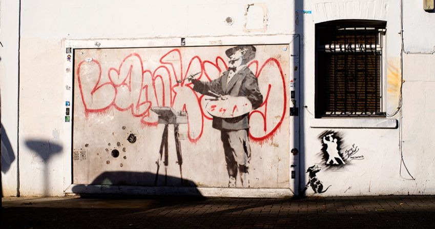 Graffiti Painter aka Velasquez by Banksy. Photo: Oliver Martin