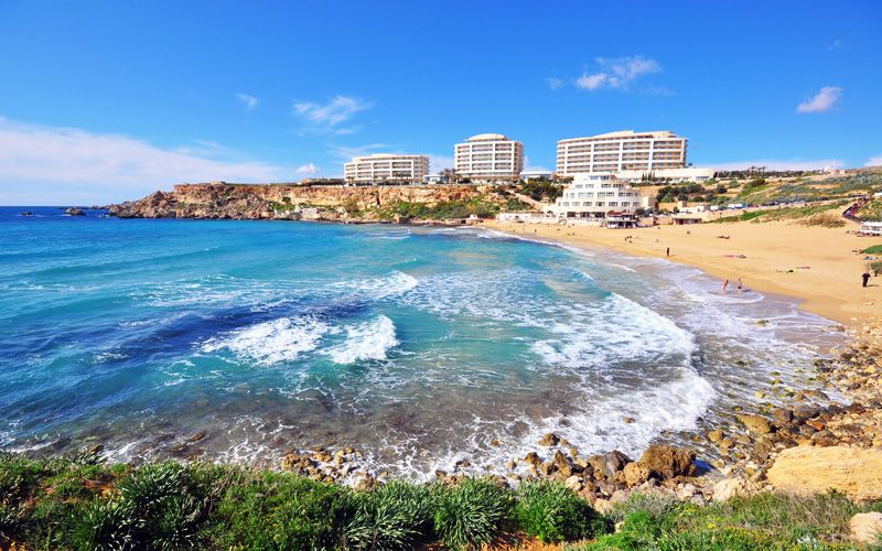 Golden Bay, the most famous beach in Malta Photo:Shutterstock