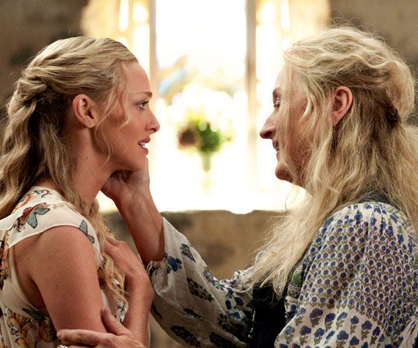Meryl Streep with her screen daughter, played by Amanda Seyfried, in the Mamma Mia movies. Photo: IBL