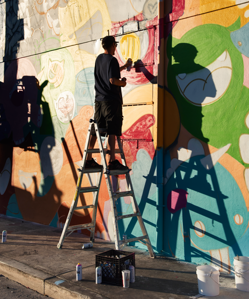 Local artists are encouraged to continually update and refresh the walls in the area. Photo: Mattias Lundblad