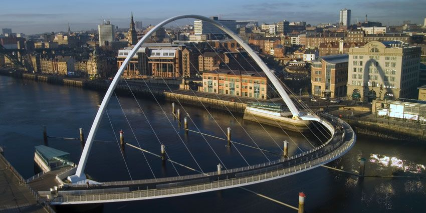 Gateshead millennium bridge, Newcastle. Photo: Shutterstock