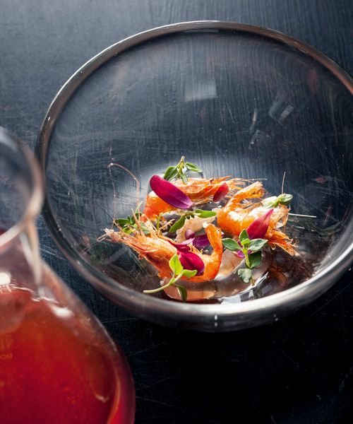 Munk's marinated jellyfish in Pernod. Photo: Maria Kejser Petersen