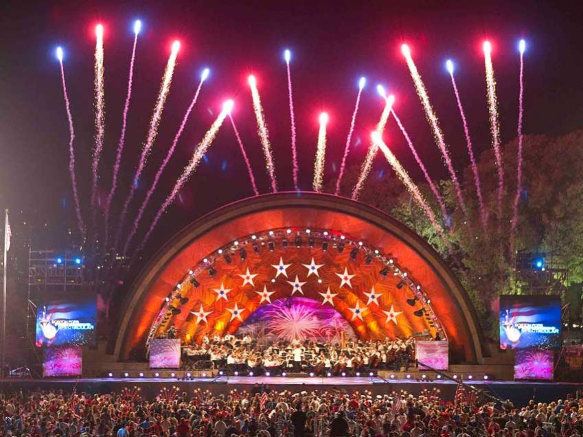 Boston Pops Orchestra Fireworks Spectacular. Photo: Jay Connor