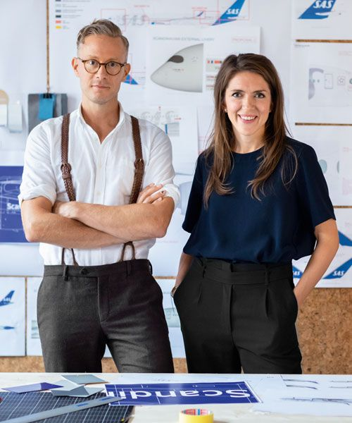 Winning team – Kristine Mayer, who is responsible for SAS product design, with Bold's Oskar Lübeck.